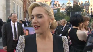 3D泰坦尼克号 伦敦首映礼红毯采访之凯特·温斯莱特